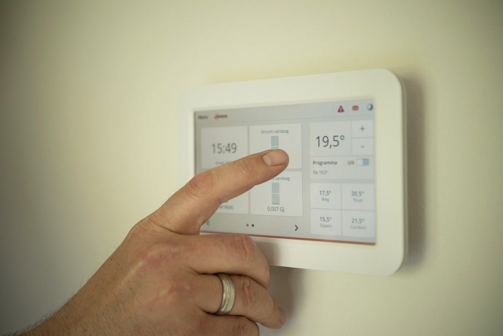 tablet, heating, man